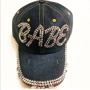 New Distressed Denim Bling Hat
